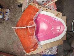Back Mold Two Thirds Done (thorssoli) Tags: schick hydro robotrazor razor sdcc comiccon sandiego conx entertainmentweekly costume suit prop replica hydrorescue schickhydro