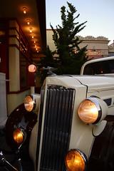 LA Adventures (Samicorn) Tags: nikon california losangeles disney disneyland anaheim car vintage classic lights hoodornament dusk sunset californiaadventure