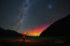 Stargazing in New Zealand (zakies) Tags: newzealand autumn aurora boralis south islands person travel national park stargazing color malaysia asean asia aorakimount amazing mohdzakishamsudin hiking lake people