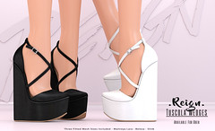 REIGN.- TUSCOLA WEDGES (Kenadee Reign) Tags: belleza body blueberry slink shoes secondlife wedges reign uber summer maitreya mesh