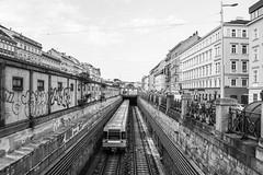 Vienna Subway (SMSidat) Tags: wien austria at train subway transport travel holiday vacation tourism travelphotography vienna naschmarkt blackandwhite