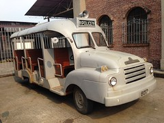 Replica HK Police EU Vehicle (Yanamation) Tags: xiqiao dreamworks national arts film studios ip man final figh t   guangdong foshan  timetravelling 50 60 hong kong nostalgia  backlot 1950s 1960s fight       police vehicle bedford lorry vauxhall prop