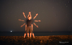 _L'uomo Vitruviano (marziabertelli) Tags: leonardo uomo vitruviano lungaesposizione arte sperimentaziopne night stelle man