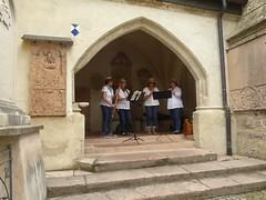 P1030163  VIDEO Blockfltenquartett Recorder Quartet (Traud) Tags: germany deutschland bavaria bayern stadtfest stiftskirche gotik recorder tilmansusato16jht ronde