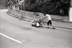(David Davidoff) Tags: hardlife hardwork street people oldwoman trolley