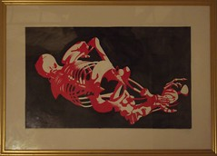 Bones (murkle5000) Tags: art artwork draw drawing pencil crayon red white black