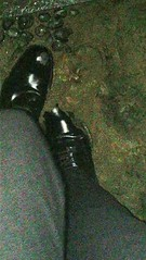 Mud! (muddy-suit) Tags: shiny shoe shoes patent leather mud muddy fetish suit