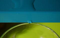 Many edges to cross (mi ne volimo alu) Tags: macromondays edge closeup blue green droplet water waterdrop glass abstract stillife minimalism colourful 7dwf