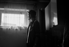 film_09_2016_033 (Ondej lek) Tags: analogue analog film ilford hp5 iso 400 expired czechrepublic esk republika black white prostjov cottage trip family abandoned place farawell rozluka rodina prodej chata vlet supertramp ego selflove selfie