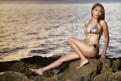 Beach rocks evening shoot. (Dragunars..) Tags: batam beach emo indonesia mirotabeach modelshoot dragunars
