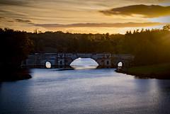 Pure Blenheim (66of365) (Reckless Times) Tags: blenheim palace park gardens lake sunset dusk bridge water orange sky clouds nikon nikond750 365