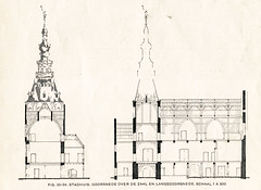 1937 Zierikzee (Steenvoorde Leen - 2.3 ml views) Tags: 1937 zeeland zierikzee architectura weekblad architectuur stlievens monster toren raadhuis rathaus