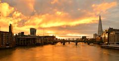 Autumn sunrise over Tower Bridge (pentlandpirate) Tags: autumn sunrise dawn london river thames towerbridge bridges theshard city tourists england capital world centre unitedkingdom architecture