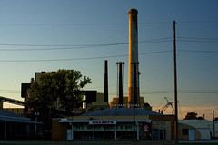 Brandt's Pet Supply Store and NIPSCO Power Plant Michigan City Indiana IMG_8790 (www.cemillerphotography.com) Tags: washingtonpark gambling sundown dusk recreation evening midwest