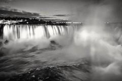 The Canadian Falls at night. Shot with my Canon 1DX mkII. (GBracco) Tags: canada canadian falls niagara water niagarafalls nighttime longexposure