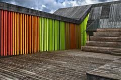 Colored Sticks (jo.misere) Tags: grubbenvorst floriade 2014 venlo balken planken kleuren sticks