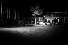 In The Shadows (h_cowell) Tags: lowkey street streetphotography candid evening night town cobbles road streetlight shadows noir filmnoir panasonic gx7 appicoftheweek mono monochrome bnw