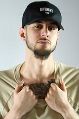 IMG_0972 (sabrinafvholder) Tags: man male hat hipster studio portrait young givenchy sabrinavazholder