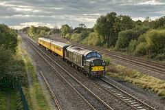 37057 (Geoff Griffiths Doncaster) Tags: 37057 d6757 willington 3q13 class 37 diesel locomotive