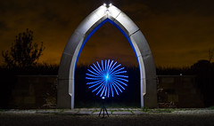 Gothic Dreams (MAGIC PASSION * PHOTOGRAPHY *) Tags: lightpainting gothic arch lightart lichtmalerei lichtschmierer komturei heimbach architecture epic freedom magic passion creative night light art photography sony alpha a77
