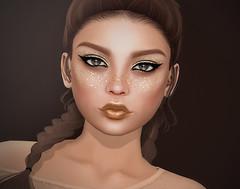 Glitter Freckles & Glitter Make-Up (Izzie Button (Izzie's)) Tags: izzies gold glitter makeup freckles flf
