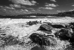 DSC01686 (Damir Govorcin Photography) Tags: waves rocks clovelly sony a7ii zeiss 1635mm sydney australia sea ocean sky clouds blackwhite monochrome natural light landscape