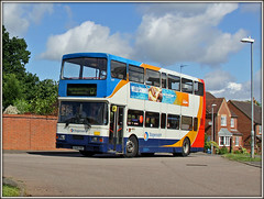 16699, Lang Farm (Jason 87030) Tags: daventry langfarm estate houses northants northamptonshire d2 bus northampton summer june 2016 canon 16699 r699dnh doubledecker olympian stagecoach volvo sedgemoorway