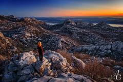 Fading Away (TranceVelebit) Tags: sunset sea people mountain view dusk croatia limestone karst adriatic velebit dinaricalps dinaridi