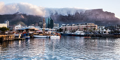 V&A Waterfront and Table Mountain (CMich5) Tags: africa travel sunset landscape southafrica harbor landscapes fb capetown tablecloth tablemountain vawaterfront westerncape victoriaandalfred