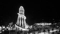 all the fun of the winter fair (byronv2) Tags: blackandwhite bw monochrome night blackwhite edinburgh iceskating carousel fair christmasmarket icerink merrygoround funfair nuit helterskelter edimbourg gallopers saintandrewssquare edinburghbynight