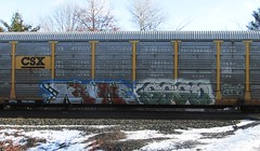 krime - gasto (timetomakethepasta) Tags: train graffiti freight csx autorack gasto krime