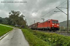 BR185 Murrbahn - Schleiweiler (Matteo Lizzi) Tags: train diesel railway zug db cargo taurus bahn treno freight bb rh bombardier lok ferrovia zge traxx treni railion schenker locomotiva mazowieckie
