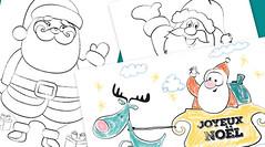 Les coloriages du père-Noël (HopToys) Tags: 3 de la à version le sur pour voici visuel afficher croissante cliquez colorier difficulté pèresnoël imprimable
