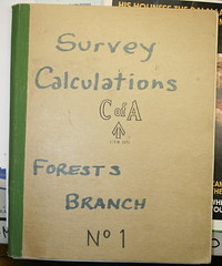 Survey book for calculations (spelio) Tags: act forests forestry canberra australia report illustrations copies trove australiancapitalterritory drafting mapping cartography cad general random selection scan autocad