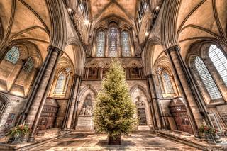 Christmas at salisbury cathedral HDR