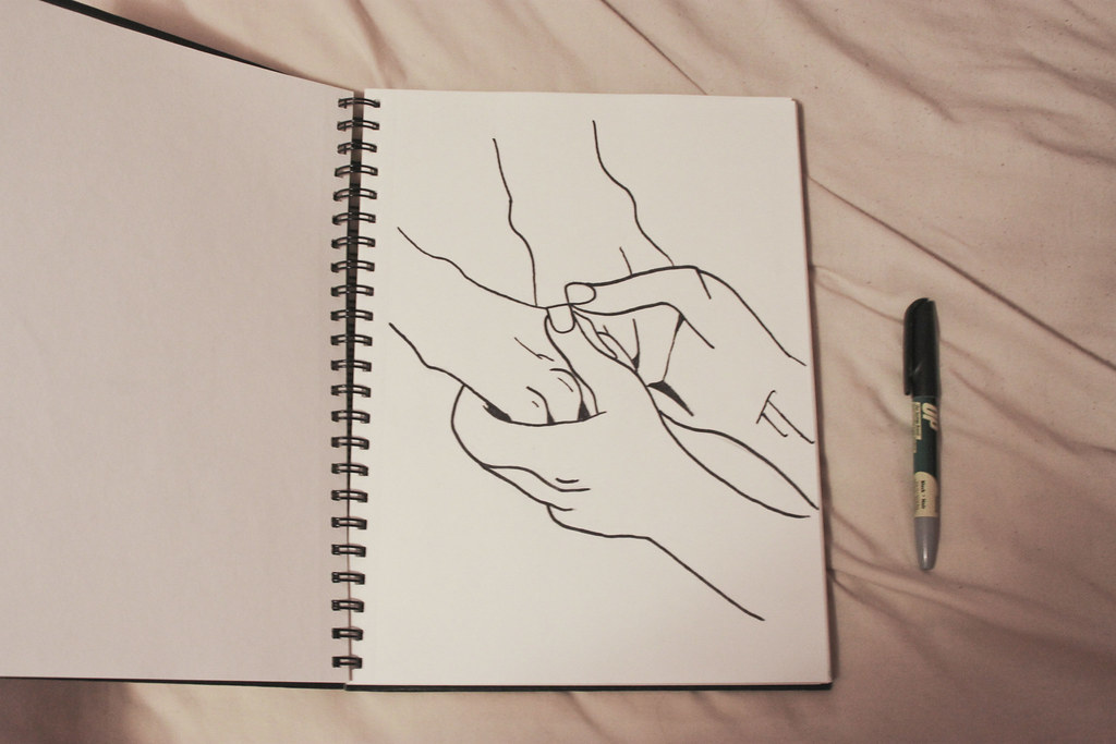 Line Drawing Holding Hands : The world s best photos of holding and sketch flickr hive mind