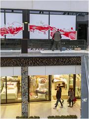Nilko-White Bonnet One Nation Paris LM8 1001091 (mich53 - thank you for your comments and 3M views!) Tags: red art ledefrance exposition graff artiste graphisme centrecommercial lesclayessousbois leicam8 schops elmaritm28mmf28asph onenationparis nilkowhite