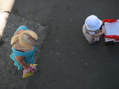 . (petrbelov) Tags: street woman color day child candid sunny odessa blonde