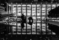 Lincoln Center for the Performing Arts. New York (ravalli1) Tags: nyc blackandwhite music newyork art architecture night opera manhattan lincolncenter iphone5