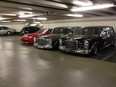 Mercedes 600 W100 x2 Ferrari 575 Superamerica (mangopulp2008) Tags: mercedes 600 w100 paris france avenue foch x2 ferrari 575 superamerica