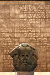 Karl Marx  artwork by Lew Kerbel (sehender1979) Tags: sculpture art bronze canon germany eos kunst saxony skulptur communism sachsen ddr tamron gdr chemnitz sozialismus kommunismus 60d tamronsp70300mmf456divcusd tamronsp70300mmf456dividc