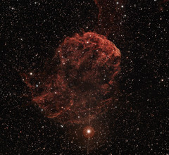 The Jellyfish Nebula IC 443. January 2015 (BudgetAstro) Tags: canon astrophotography astronomy gemini dss ed80 ic443 heq5 deepskystacker jellyfishnebula eos500d sh2248