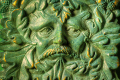 green man 01 HD jan 15 (Shaun the grime lover) Tags: color colour detail macro green face leaves eyes box hdr lid greenman