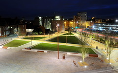 Jubilee Square (Alex Hannam) Tags: longexposure news night leicester nightsky leicestercity