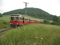 Brohltalbahn 002 VT 30 Brenk - Engeln - 07-06-09 (tramfan239) Tags: eisenbahn railway narrowgauge brohltal schmalspur schmalspurbahn brohl brohltalbahn vulkanexpress