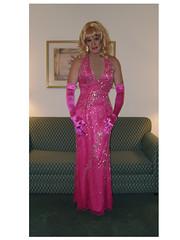Fushia Gown 5 (xgirltv1000) Tags: michelle tgirl transgender monroe dragqueen transgendered milf crossdresser crossdress mtf transwomen