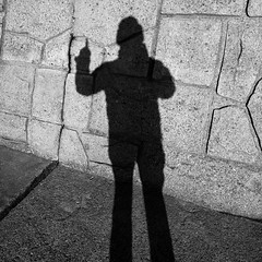 this shadow is number one (troutfactory) Tags: shadow blackandwhite bw selfportrait me monochrome japan digital 日本 toyama takaoka 影 白黒 高岡 富山県 ricohgrd2