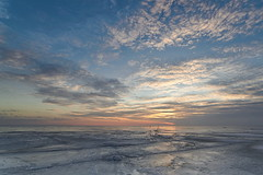 Sunset on ice (pekvaha) Tags: road winter sunset sea sun ice evening