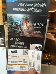 Chappie Watching A Movie Bangkok very good movie ! at Terminal 21 (เทอร์มินอล ทเวนตี้วัน) (vamosalafiesta) Tags: bangkok chappie watchingamovie
