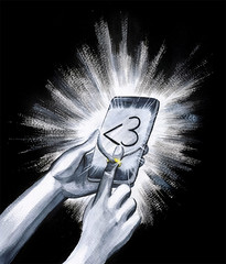 A Sext From Your Phone (razorberries) Tags: 3 love fun holding hands funny humorous glow phone married heart finger humor like screen ring glowing dm marry android ringing facebook iphone socialmedia sext emoji twitter sexting instagram